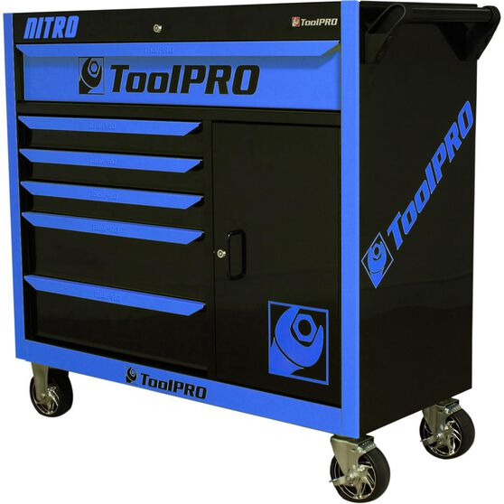 ToolPRO Neon Tool Cabinet, 6 Drawer, Roller Cabinet - Nitro 42 inch, , scanz_hi-res