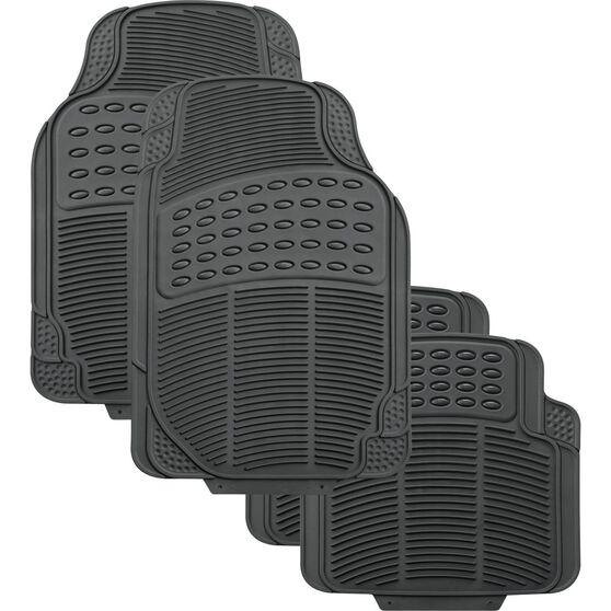 SCA Defend Car Floor Mats - Rubber, Grey, Set of 4, , scanz_hi-res