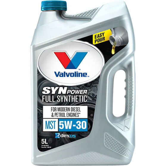 Valvoline Synpower MST Engine Oil - 5W-30 5 Litre, , scanz_hi-res