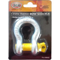 SCA Bow Shackle - Rated to 2000kg, Galvanised, 13mm, , scanz_hi-res