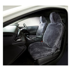 Gold Cloud Sheepskin Seat Covers - Slate Adjustable Headrests Size 30 Front Pair Airbag Compatible Slate, Slate, scanz_hi-res