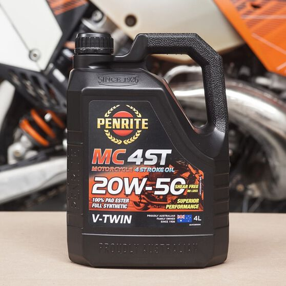 MC-4 V Twin Motorcycle Oil - 20W-50, 4 Litre, , scanz_hi-res