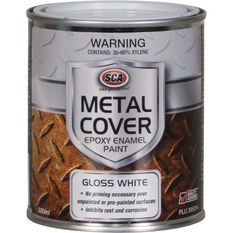 SCA Metal Cover Rust Paint - Enamel, Gloss White, 500mL, , scanz_hi-res