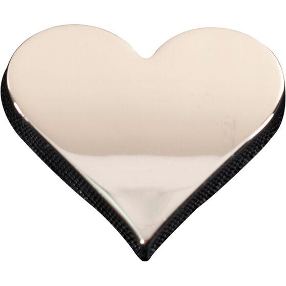 SCA 3D Chrome Badge Heart Emblem, , scanz_hi-res