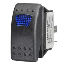 Sealed Rocker Switch - On/Off, Blue LED, , scanz_hi-res