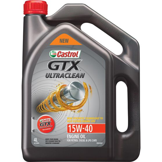 Castrol GTX UltraClean Engine Oil - 15W-40, 4 Litre, , scanz_hi-res