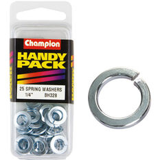 Champion Spring Washers - 1 / 4inch, BH328, Handy Pack, , scanz_hi-res