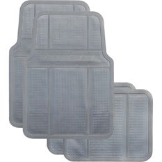 Best Buy Car Floor Mat - Rubber, Grey, Set of 4, , scanz_hi-res