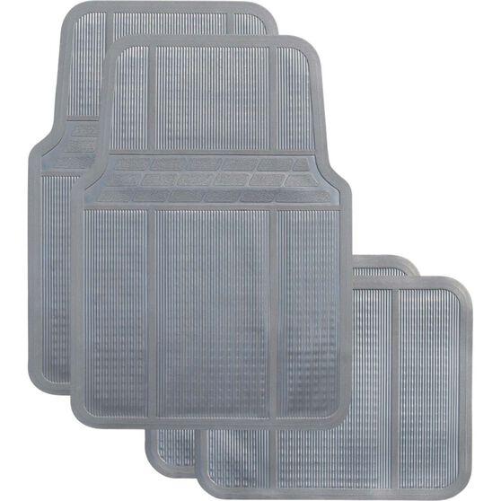 Best Buy Car Floor Mat - Rubber, Grey, Set of 4, , scanz_hi-res