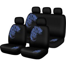Seat Cover Pack - Blue, Built-in Headrests, Size 30 & 06H, Front & Rear Pack, Airbag Compatible, , scanz_hi-res