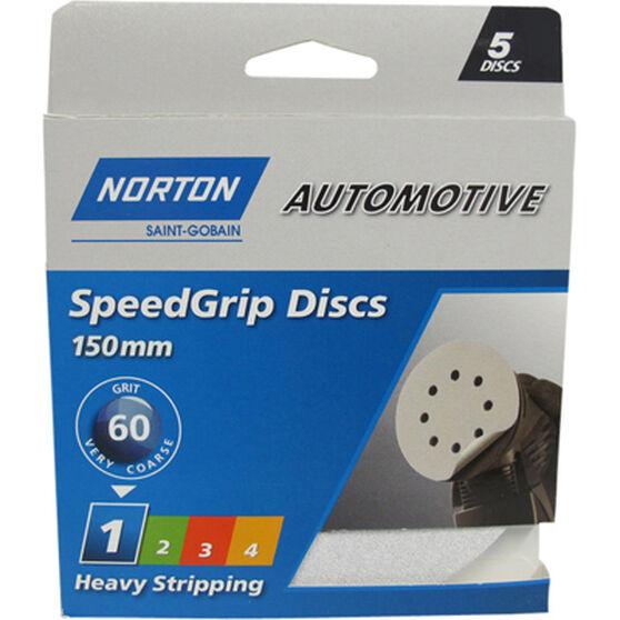 Norton Speed Grip Disc 60 Grit 150mm 5 Pack, , scanz_hi-res