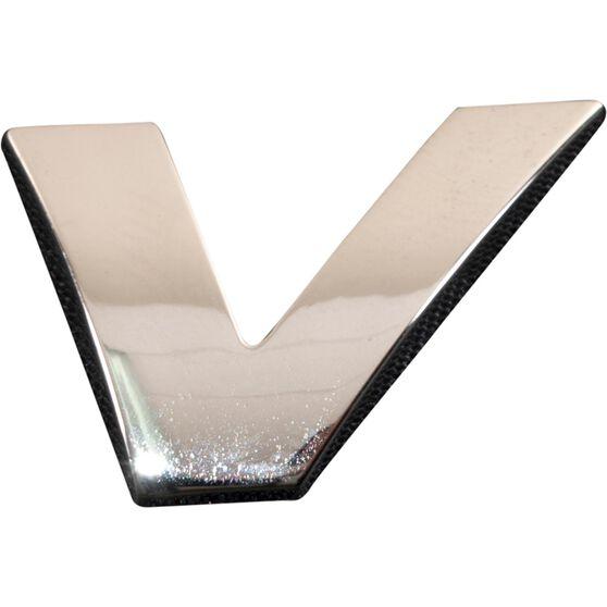 SCA 3D Chrome Badge Letter V, , scanz_hi-res
