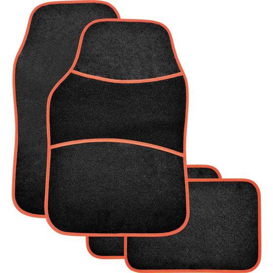 Sports Floor Mats - Carpet, Black / Red, Set of 4, , scanz_hi-res