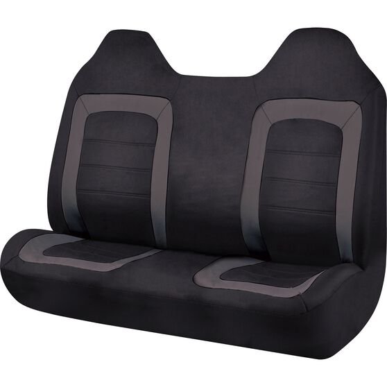 SCA Oxford Ute Seat Covers - Black, Size 90, Front Bench (with built-in headrests), , scanz_hi-res