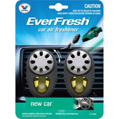 Everfresh Air Fresheners, New Car - 2 Pack, , scanz_hi-res
