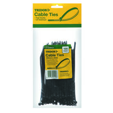Tridon Cable Ties - 150mm x 4mm, 100 Pack, Black, , scanz_hi-res
