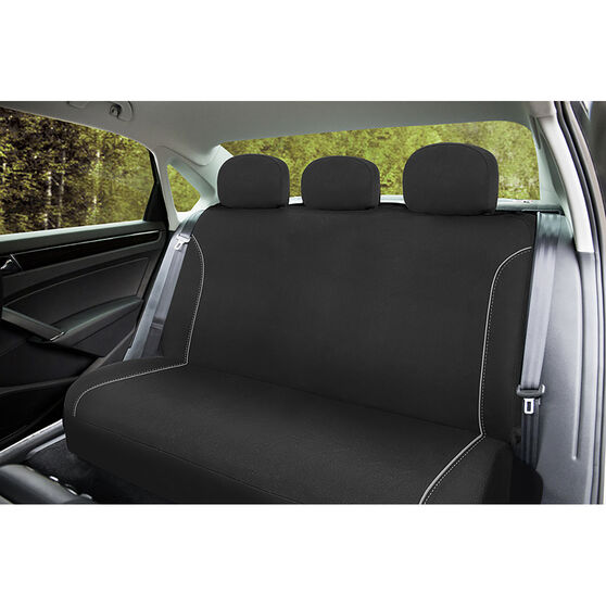 SCA Canvas Seat Covers - Black/Grey, Adjustable Headrests, Size 06H, Rear Seat, , scanz_hi-res