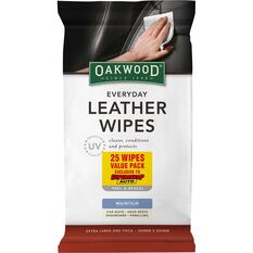 Oakwood Everyday Leather Wipes 25 Pack, , scanz_hi-res