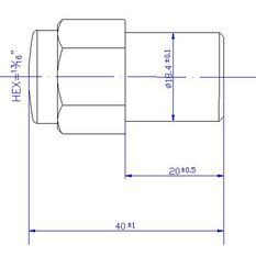 Calibre Wheel Nuts, Shank, Chrome - MN12150, 12mm x 1.5mm, , scanz_hi-res