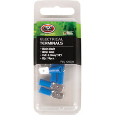 SCA Electrical Terminals - Male Blade, Blue, 6.3mm, 14 Pack, , scanz_hi-res