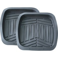 Ridge Ryder Deep Dish Car Floor Mats - Grey, Rear Pair, , scanz_hi-res