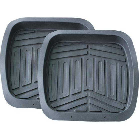 Ridge Ryder Deep Dish Car Floor Mats - Grey, Rear Pair, , scanz_hi-res