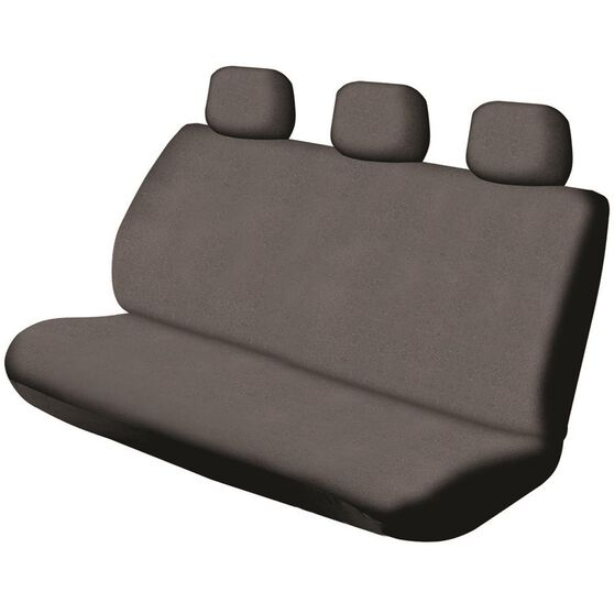 Canvas Seat Covers - Charcoal, Adjustable Headrests, Size 06H, Rear Seat, , scanz_hi-res