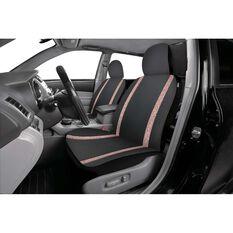 Sequin Seat Covers - Rose Gold & Black, Adjustable Headrests, , scanz_hi-res