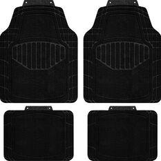 SCA Car Floor Mats - Carpet, Black, Set of 4, , scanz_hi-res
