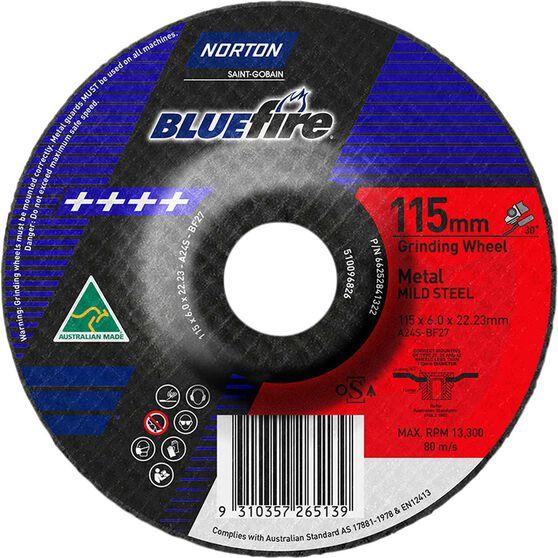 Norton Grinding Disc, Metal - 115mm  x  6mm  x  22mm, , scanz_hi-res