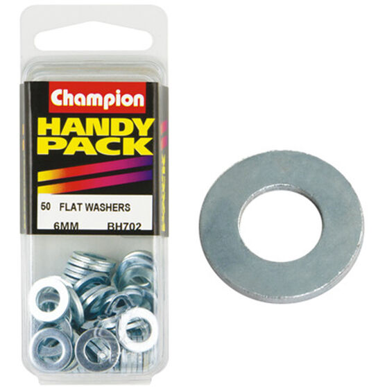 Champion Flat Steel Washer - 6mm, BH702, Handy Pack, , scanz_hi-res