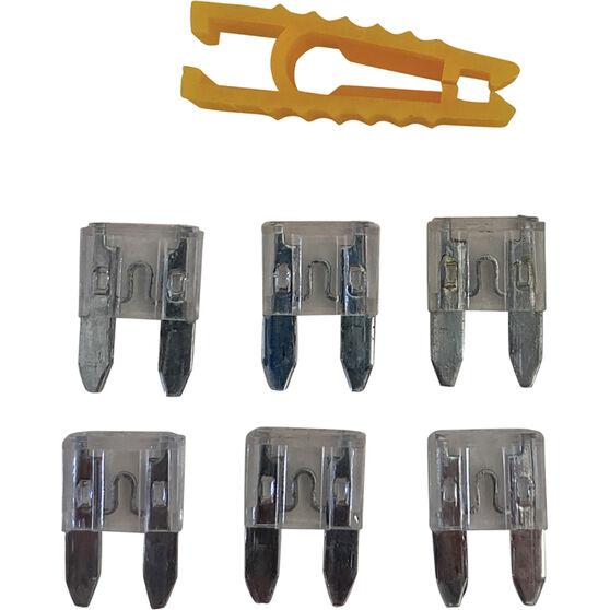 SCA Fuse Mini Blade - 25 AMP, 6pce, , scanz_hi-res