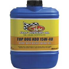 Gulf Western Top Dog XDO Diesel Engine Oil - 15W-40 10 Litre, , scanz_hi-res
