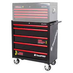 ToolPro Tool Cabinet, 5 Drawer, Roller Cabinet - Black, 36 inch, , scanz_hi-res