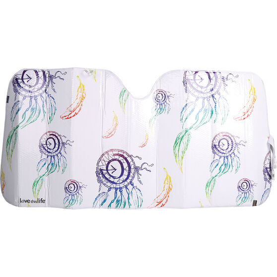 Love This Life Dreamcatcher Sunshade Fashion Accordion Front, , scanz_hi-res