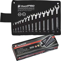 ToolPRO Spanner Set - Combination, 14 Piece, Imperial, , scanz_hi-res