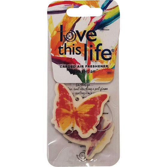 LTL Card Air Freshener - Butterfly Chain Peach, , scanz_hi-res
