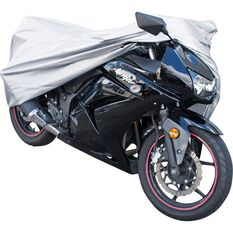 Motorcycle Cover - Silver Protection, Water Resistant, Suits Up To 500cc, , scanz_hi-res
