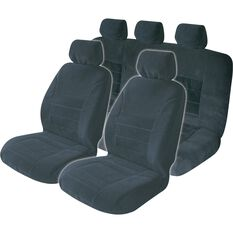 Executive Seat Cover Pack - Black, Adjustable Headrests, Size 30 & 06H, Front & Rear Pack, Airbag Compatible, , scanz_hi-res