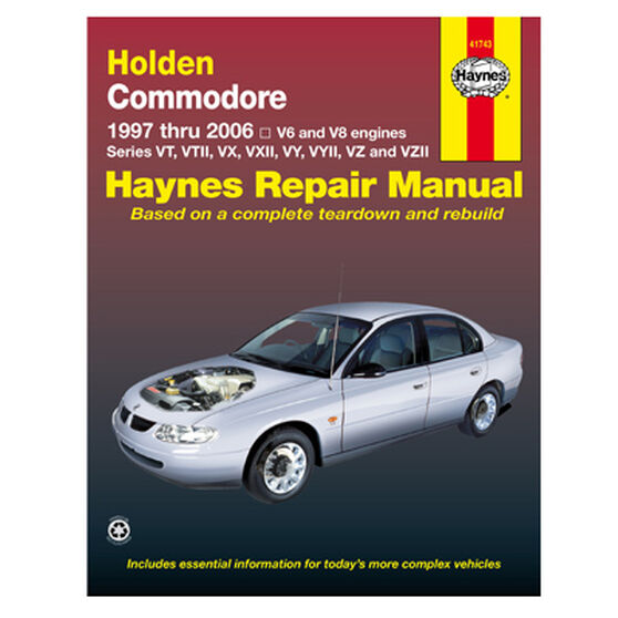 Haynes Car Manual For Holden Commodore 1997-2006 - 41743, , scanz_hi-res