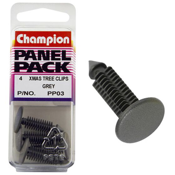 Champion Xmas Tree Clips - PP03, Grey, Panel Pack, , scanz_hi-res