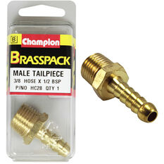 Champion Male Hose Barb - 3 / 8inch X 1 / 2inch, Brass, , scanz_hi-res