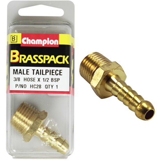Champion Male Hose Barb - 3 / 8inch X 1 / 2inch, Brass, , scanz_hi-res