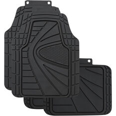 SCA Blaze Floor Mats - Rubber, Black, Set of 4, , scanz_hi-res