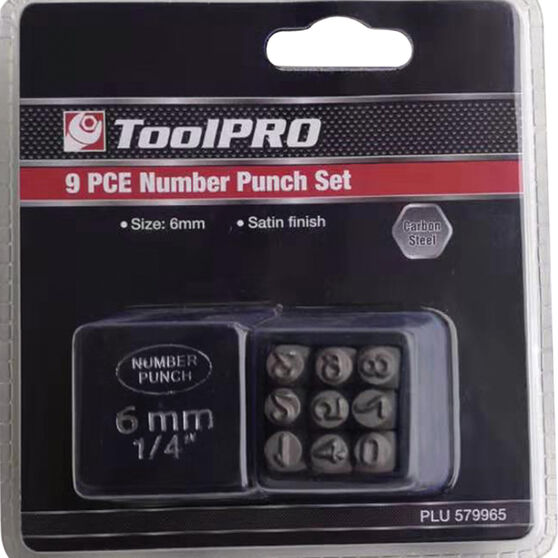 ToolPRO Number Punch Set - 6mm, , scanz_hi-res