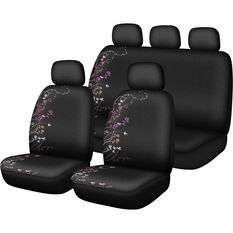 SCA Blossom Seat Cover Pack - Purple and Orange Adjustable Headrests Size 30 and 06H Airbag Compatible, , scanz_hi-res