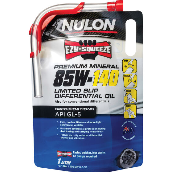NULON EZY-SQUEEZE Limited Slip Differential Oil - 85W-140, 1 Litre, , scanz_hi-res