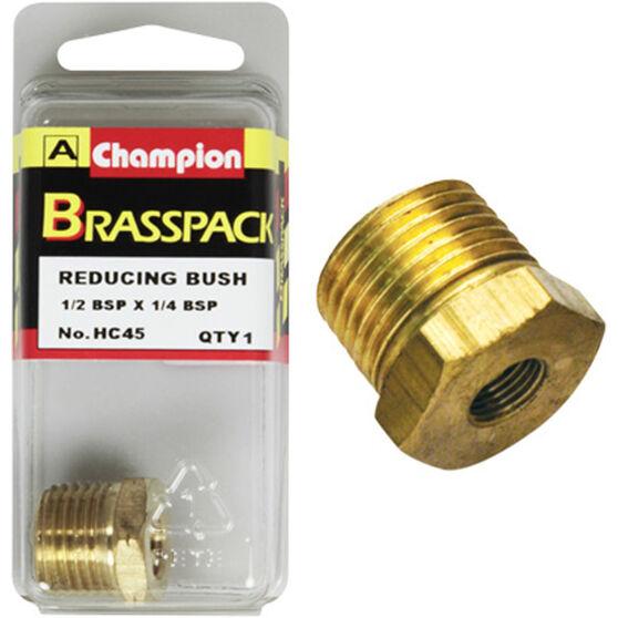 Champion Hex Reducing Bush - 1 / 2-1 / 4inch, Brass, , scanz_hi-res
