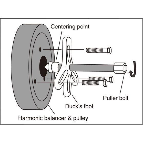 ToolPRO Harmonic Balancer Puller Kit - 13 Piece, , scanz_hi-res