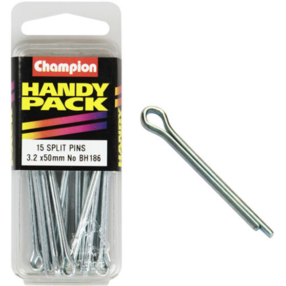Champion Split Pins - 3.2mm X 50mm, BH186, Handy Pack, , scanz_hi-res